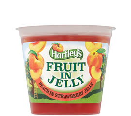 Hartley's Peach in Strawberry Flavour Jelly Pot 120g