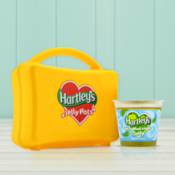 Sharpen your pencils, polish your shoes and weave some wobble into lunch with Hartley's jelly pots