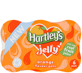 Hartley's Orange Multipack Jelly Pots