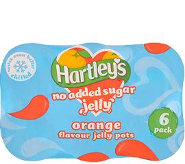 Hartley's No Added Sugar Orange Multipack Jelly Pot